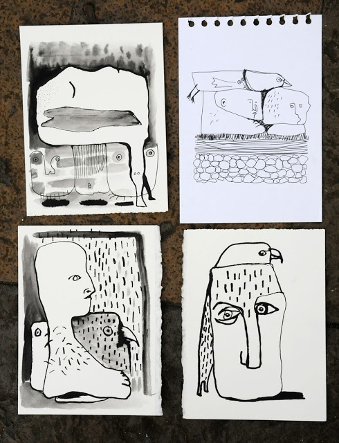 Some of the drawings made at the shieling