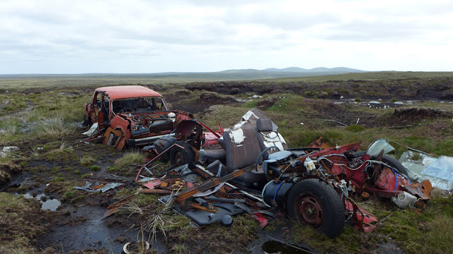 A couple of spectacular wrecks on the moor